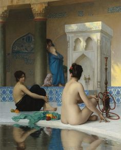 After the Bath  Artist: Jean-Leon Gerome  Style: Academicism