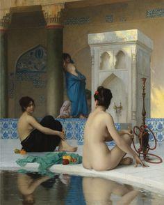 After the Bath  Artist: Jean-Leon Gerome  Style: Academicism
