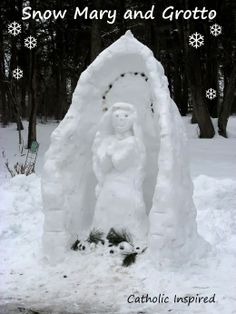 Snow Mary and Grotto - Wow!!! Catholic Inspired