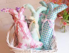 Easter Bunny Rabbit, Basket Toy Bunnies, Stuffed, Aqua, Purple, Blue, Plush, Spring Decor, Kids Ornaments, Choose Your Color, Baby Nursery