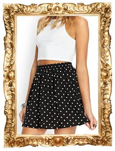 Polka Dot Skater Skirt - $11.80