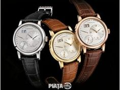 Most Expensive: A. Lange & Söhne's Luxury Watch - A. Lange & Söhne released a special limited edition watch of the Lange 1 Time Zone in honey gold. Expensive Watches, Most Expensive, Limited Edition Watches, Swiss Army Watches, Luxury Watches For Men, Cool Watches, Men's Watches, Wrist Watches, Quartz Watch