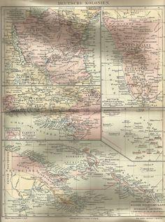 1890 Deutsche Kolonien Deutsches Reich Alte Karte Antique Map Kamerun Togoland   eBay