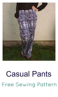 Casual Pants: free sewing pattern and tutorial #free #sewing #DIY #pants