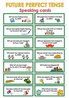 Future Perfect - Speaking cards
