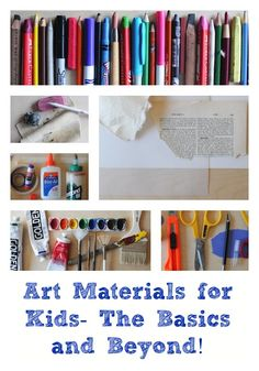 List of art materials for kids, including the basics and a bunch of extras you'll want to buy as your kids get older. From www.Artchoo.com #creativekids