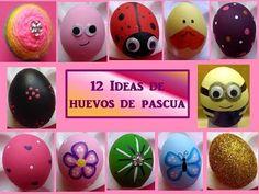 (156) ♥12 IDEAS PARA DECORAR HUEVOS- ♥ Manualidades para hacer con niños♥ CREACIONES mágicas♥ - YouTube