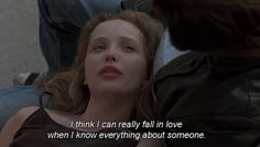 i think i can really fall in love when i know everything about someone | before sunrise (1995)
