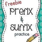 Prefix and Suffix practice worksheets. Each is 2 sided (copy front to back)  Students create new words by combining root words with prefixes and su...