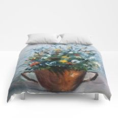 Bodegón de flores/Natureza morta de flores/Still life of flowers Comforters