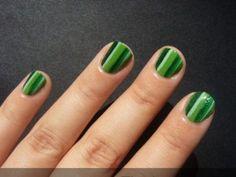 easy nail art designs for short nails Green Nail Art, Funky Nail Art, Green Nail Polish, Funky Nails, Green Nails, Easy Nail Art, Zebra Nail Designs, Simple Nail Art Designs, Short Nail Designs