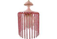 1960s Pink Beaded Pendant on OneKingsLane.com