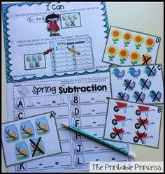 Spring subtraction practice!