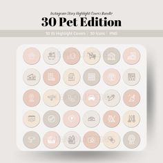 30 PET Edition Instagram Story Highlight Covers, Social Media Branding for Small Business and Bloggers Social Media Branding, Social Media Marketing, Digital Marketing, Cooking Cream, Facebook Store, Image Icon, Branding Kit, Competitor Analysis, Story Highlights