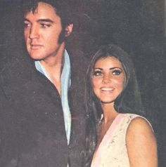 Stunning couple! Elvis and Priscilla Presley at Nancy Sinatra concert in Las Vegas. August 29, 1969.