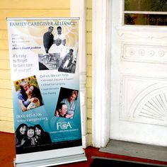 Spanish Caregiver's Retreat: FCA services sign greets caregivers at the door along with staff just inside . . .