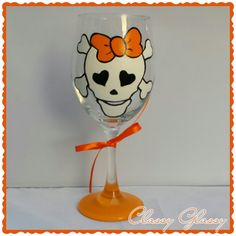 I just listed Halloween Skull Wine Glass on The CraftStar @TheCraftStar #uniquegifts