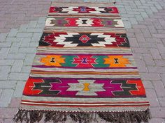 Anatolian Turkish Antalya Kilim Rug Carpet 40 5 x 79 1