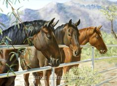 Horse painting by Carole Andreen-Harris