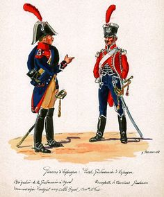 French; Gendarmerie de Cheval, Brigadier & Lanciers Gendarmerie, Trumpeter in Spain by H.Boisselier