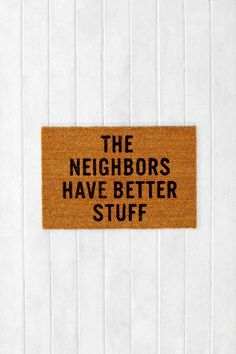 Reed Wilson Design My Neighbors Mat #urbanoutfitters
