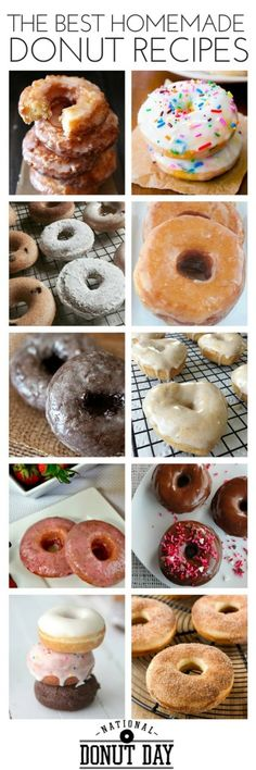 Donut Day: Guide to Free Donuts & the Best Make Your Own Recipes - dounuts - Krapfen Mini Desserts, Just Desserts, Delicious Donuts, Delicious Desserts, Yummy Food, Healthy Donuts, Oreo Dessert, Churros, Donut Recipes