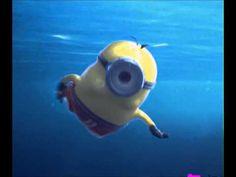 Minions Swiming - YouTube