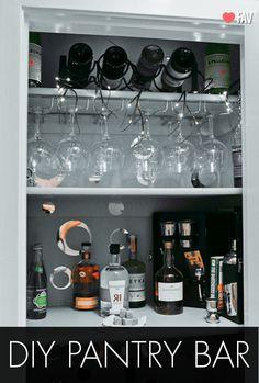 Apartment Artifact: Butler's Pantry Bar Reveal!!