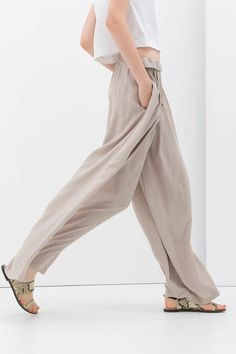 The ONLY Sale Worth Shopping This Weekend #refinery29  http://www.refinery29.com/2014/06/69968/zara-summer-sale#slide29  Zara Palazzo Pants, $49.99 (originally $69.90), available at Zara.