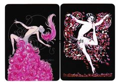 V66 ART DECO STYLE swap playing cards MINT COND showgirls ladies dancers