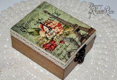 Decoupage box Wedding box jewelry case wedding by ByRoxanaRusu, €25.00