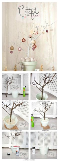 Alternative Christmas Tree DIY Project - How to make a Branch Christmas Tree For Your Holiday Home Decor
