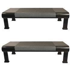 Pair of Postmodern Industrial Benches | 1stdibs.com