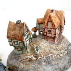 Boatsman Island Handmade Miniature Island Mixed-media