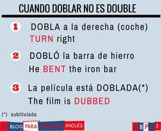 """Cuando """"Doblar"""" no es """"Double""""."""