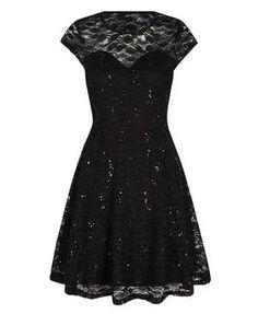 Kleid mit spitze und glitzer
