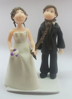 #Wedding Cake topper.   This is an example of a custom made Wedding Cake topper that I created, Hanged Groom. I can customize the dress and tux just for you!   For a cus... #wedding #bride #groom #marroriage #marriage