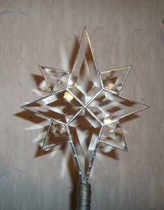 Extra Large Beveled Glass North Star Tree Topper by cityfreeglass Xmas Tree Toppers, Christmas Tree Star Topper, Christmas Tree Tops, Star Tree Topper, Christmas Ornaments To Make, Christmas Star, Christmas Angels, Christmas Holidays, Irish Christmas