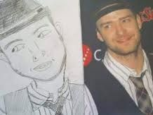 . Bad Fan Art, Bad Drawings, Justin Timberlake, Journalism, Celebs, Baseball Cards, Boys, Fanart, Humor