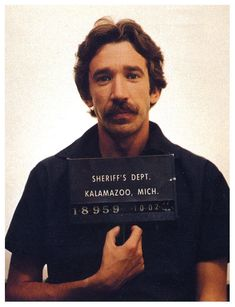 Tim Allen mugshot 1978 - Actor Tim Allen was arrested in October 1978 while attempting to sell a large amount of cocaine to a Michigan undercover officer. Allen, 25 at the time, served about two years in federal prison following the bust.