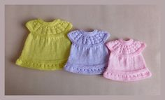 This sweet little dress is now in three premature baby sizes ~ small, medium and large Lazy Daisy All-in-One Baby Dresses ~ Medium Preemie, Large Preemie, Small Preemie All-in-One Lazy Dais Preemie Clothes, Knitting Dolls Clothes, Baby Doll Clothes, Dress Clothes, Knitted Doll Patterns, Baby Dress Patterns, Doll Clothes Patterns, Crochet Patterns, Skirt Patterns