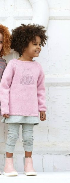 Model / Pattern of Sweater of Kids of Autumn / Winter from KATIA Winter Kids, Fall Winter, Autumn, Knitting For Kids, Baby Knitting, Gatsby, Laine Katia, Light Pink Rose, Knit Crochet