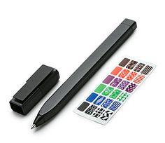 Moleskine   Plastic Roller Pen 0.5 Mm Slide Cap Rollerball Black