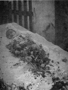 momento mori - infant post mortem photography. it looks like maybe they are laying on ice or snow??