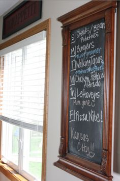 Use an old mirror and some chalkboard paint to make a homemade chalkboard.