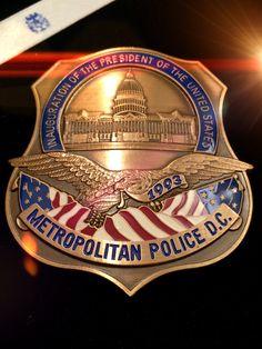 Metropolitan Washington DC Police inauguration Presidential Willian J Clinton issue 1993