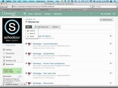 Schoology - How to create and use folders