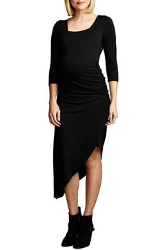 Maternal America Asymmetrical Hem Nursing Dress available at #Nordstrom
