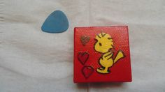 Peanut's Woodstock with Hearts Magnet 2x2 by YumJellyDonuts