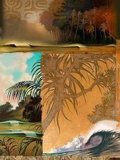 Add a dynamic finishing touch to your home decor with the Christopher Knight Collection Dreaming of My Next Wave Wall Art. This piece blends a variety of styles for a beautiful tribute to surfing. Comes ready to hang. Hawaiian Art, Hawaiian Tropic, Tropical Art, Tropical Posters, Surfboard Painting, Hipster Wallpaper, Surf Design, Beautiful Sketches, Surf Art